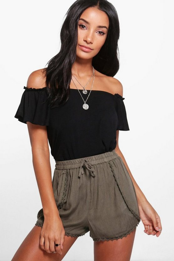 Runa Crochet Trim Runner Shorts