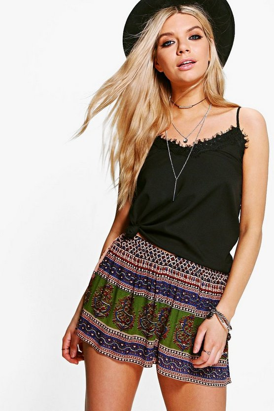Molly Printed Woven Shorts