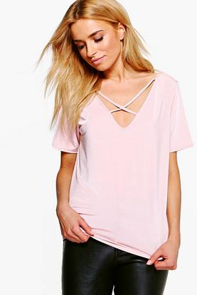 Angelina Super Slinky Cross Front T-Shirt
