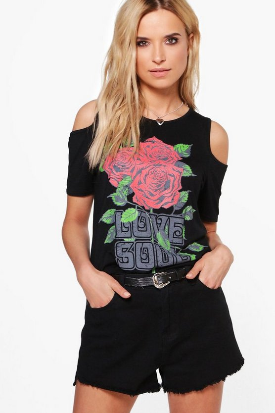 Jennie Oversized Cold Shoulder Band Tee