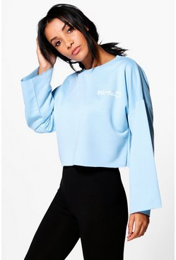 Nancy Fit Running Crop Sweat