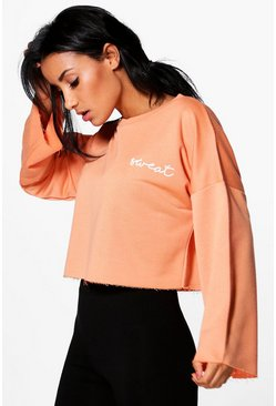 Abbie Fit Running Crop Sweat