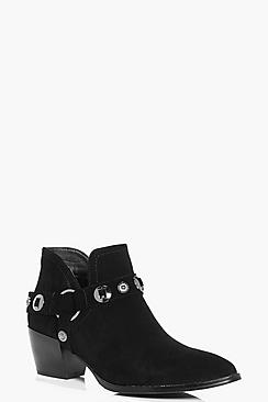 Clara Buckle Trim Western Boot
