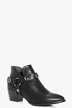Tilly Buckle Trim Western Boot