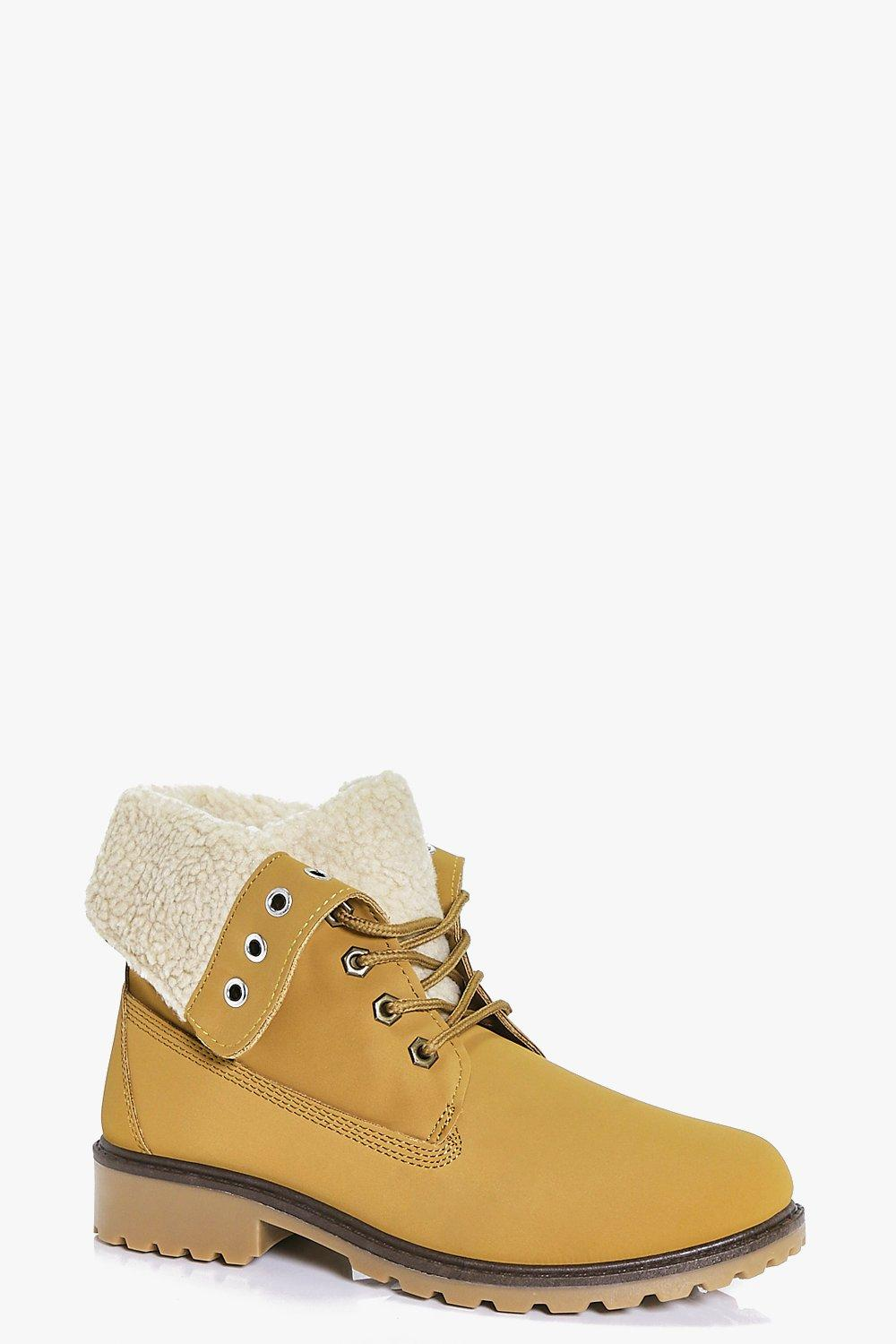 Kara Borg Cuff Lace Up Hiker Boot