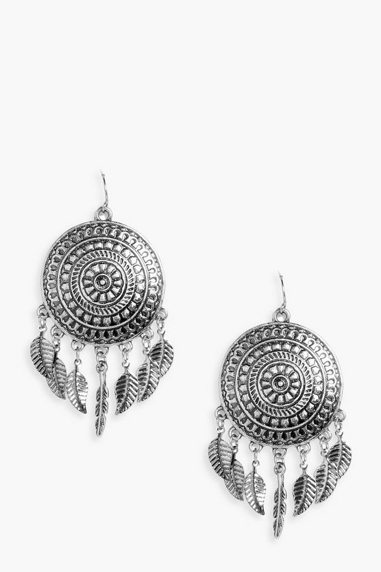 Esme Metal Dreamcatcher Earrings