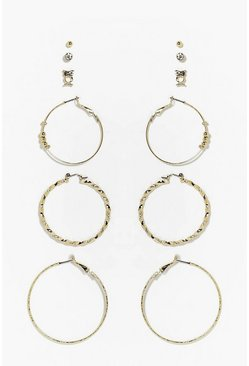 Alexis Mixed Hoop & Stud Earring Set