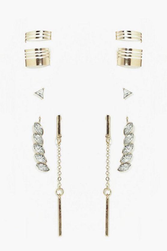 Lydia Mixed Ear Cuff Set