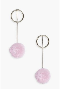 Frances Pom Drop Earrings