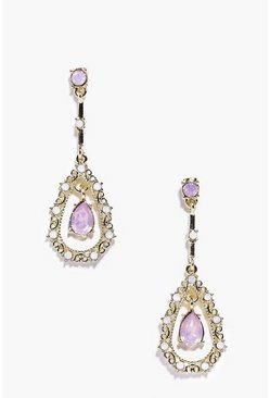 Nicole Diamante Crystal Drop Earrings