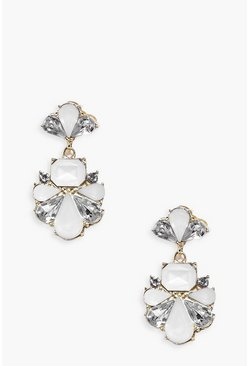 Tia Pretty Diamante Statement Earrings