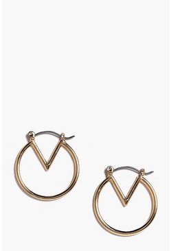 Maria V Shape Small Hoop Earrings