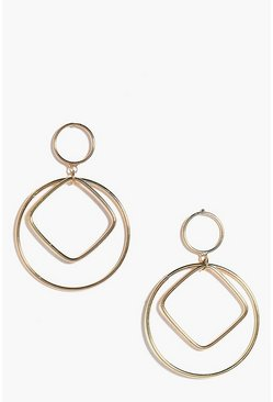 Zoe Geometric Double Circle Earrings