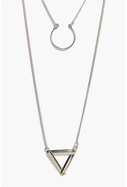 Mia Layered Triangle Pendant Necklace