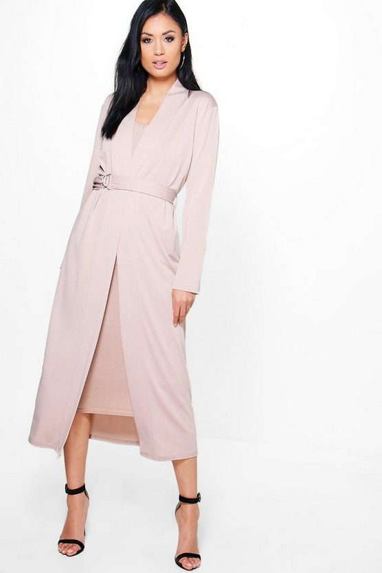 Lorna D Ring Duster & Plunge Dress Co-Ord