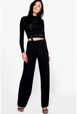 Daniella Slinky D Ring Crop & Trouser Co-Ord