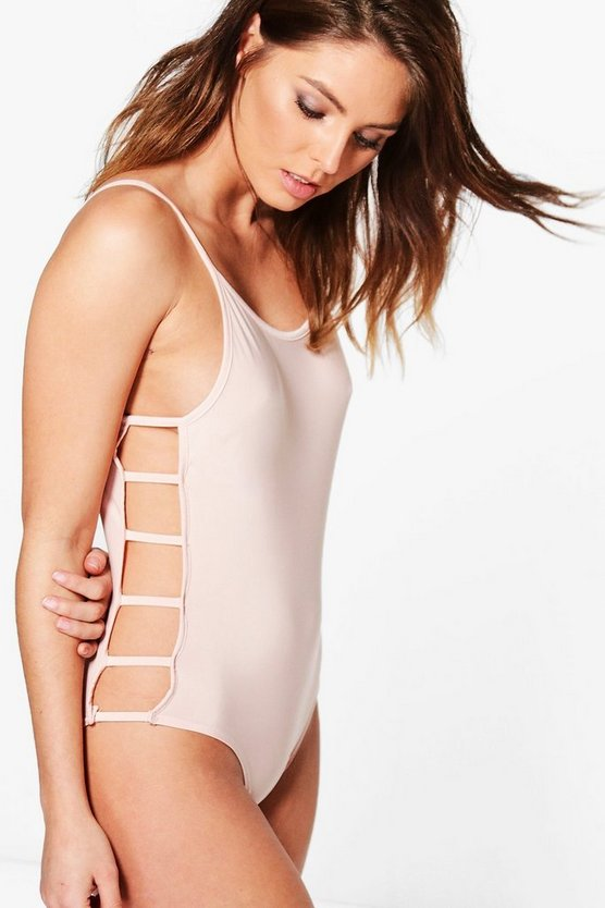 Alexia Ladder Side Strappy Bodysuit