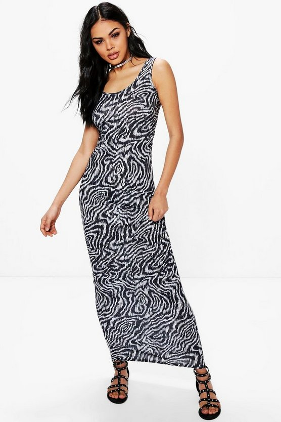 Holly Sleeveless Printed Maxi Dress