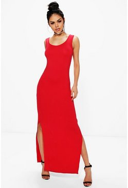 Quinn Sleeveless with Side Splits Maxi Dress