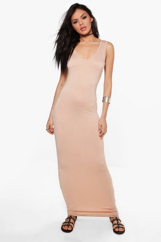 Rachel V Neck Sleeveless Maxi Dress
