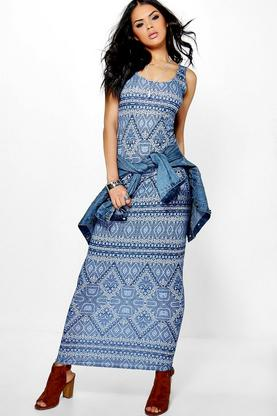 Tammy Sleeveless Printed Maxi Dress