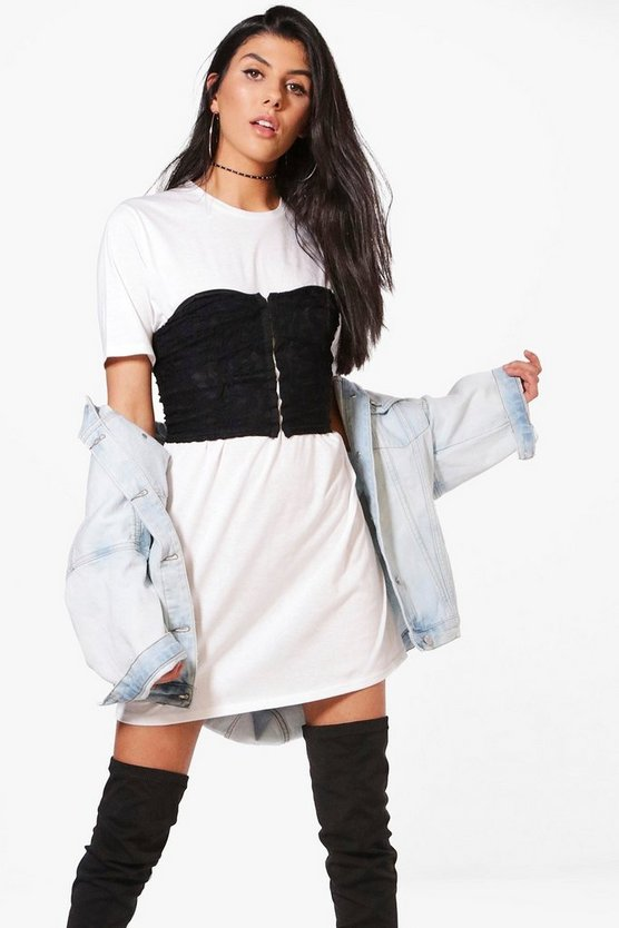 Ivy Lace Corset T-Shirt Dress