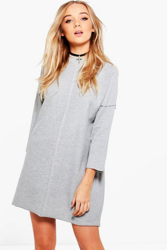 Eleanor Mesh Shoulder Sweat Dress