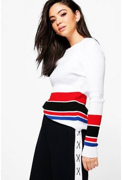 Victoria Rib Knit Colour Block Jumper