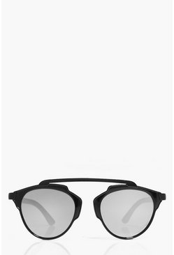 Megan Matte Brow Bar Aviator Sunglasses