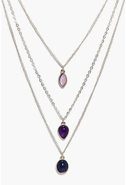 Grace 3 Stone Layered Necklace