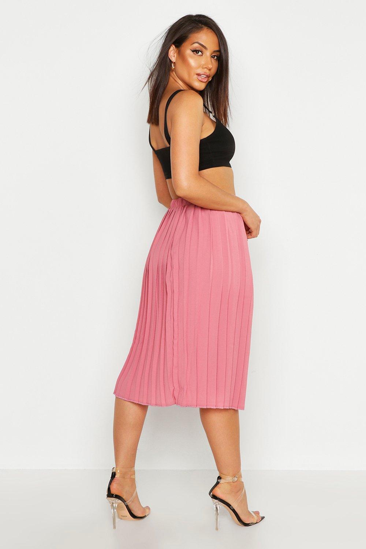 boohoo womens neave crepe pleated midi skirt ebay