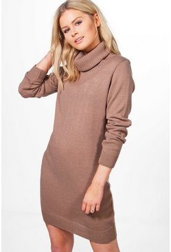 Lucy Cowl Neck Jumper Dress