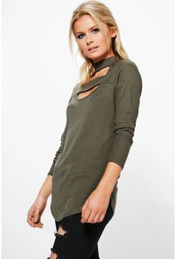 Jasmine Double Strap Neck Rib Knit Top