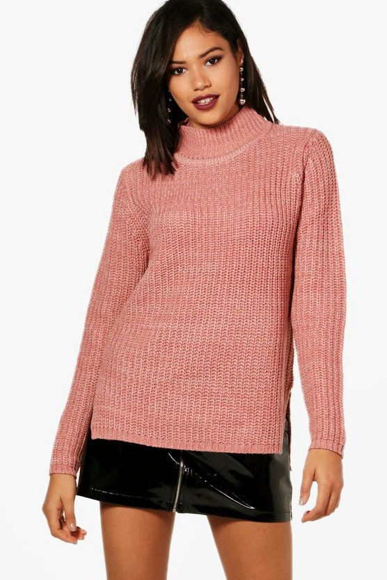 Jasmine Marl Knit Turtleneck Jumper