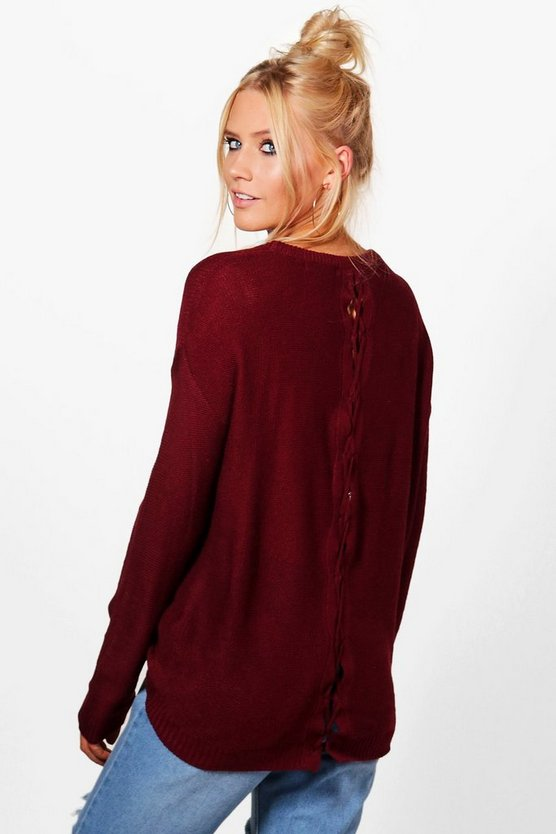 Eleanor Lace Up Back Jumper