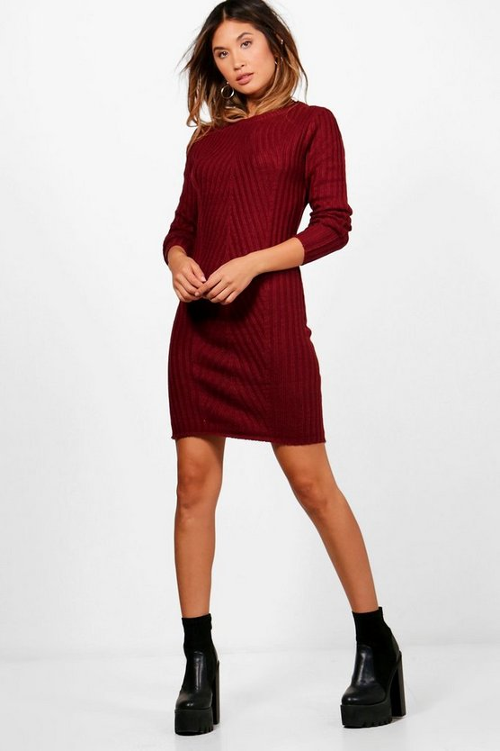 Julia Rib Knit Jumper Dress