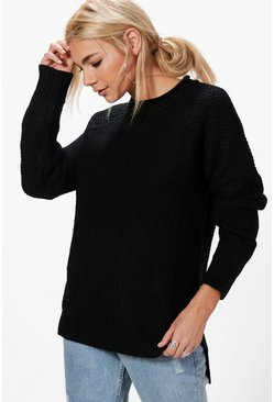 Emily Textured Chunky Jumper
