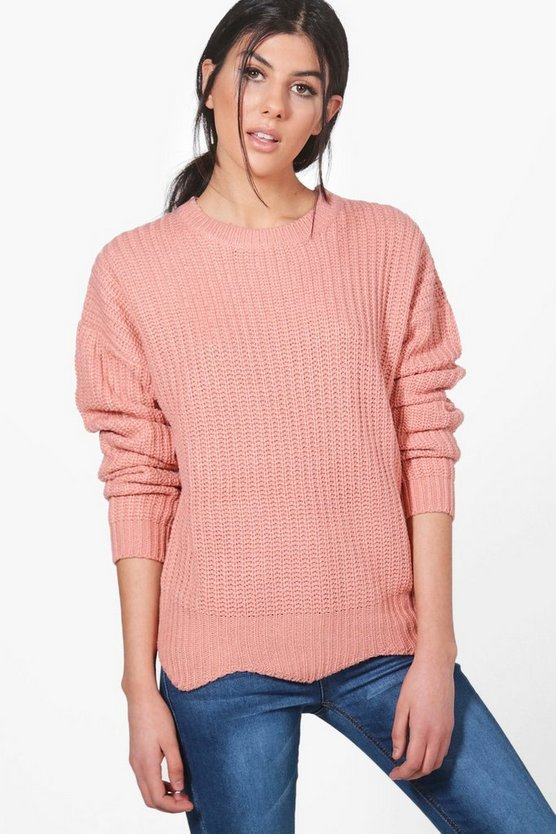 Ruby Scallop Hem Crop Jumper