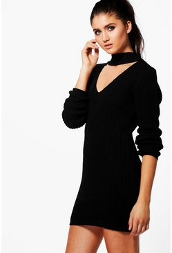 Poppy Choker Jumper Dress