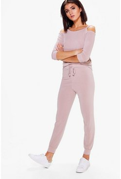 Mia Lace Up Jumper & Jogger Lounge Set