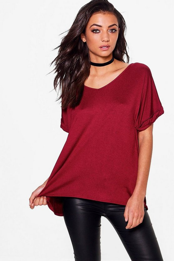 Unity Basic Oversized V Neck Tee