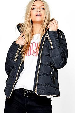 Julia Fitted Bubble Coat