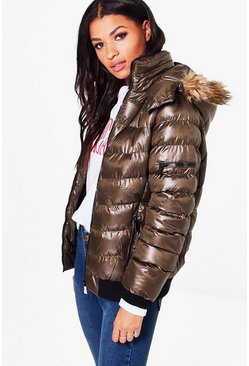 Eve Faux Fur Hood Padded Jacket