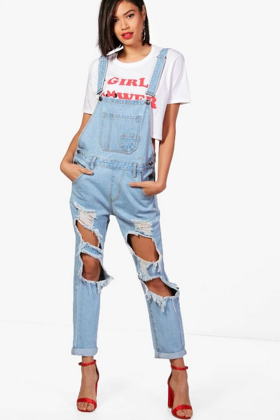 Vintage Wash Distressed Dungarees