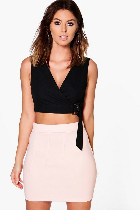 Lia Stitch Detail Mini Skirt