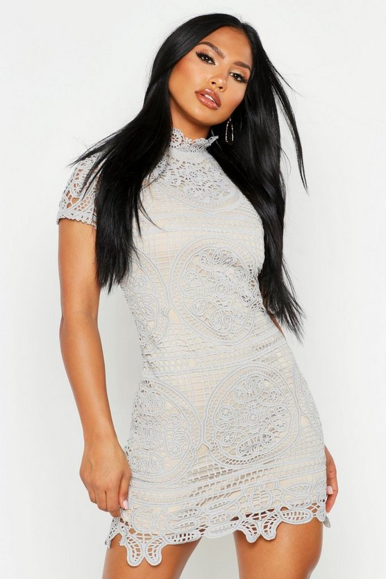 Boutique Sara Crochet Lace Bodycon Dress