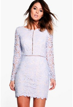 Boutique Amie Crochet Lace Bodycon Dress