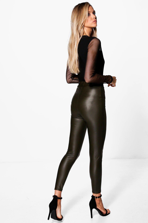 Mia Matte Leather Look Leggings
