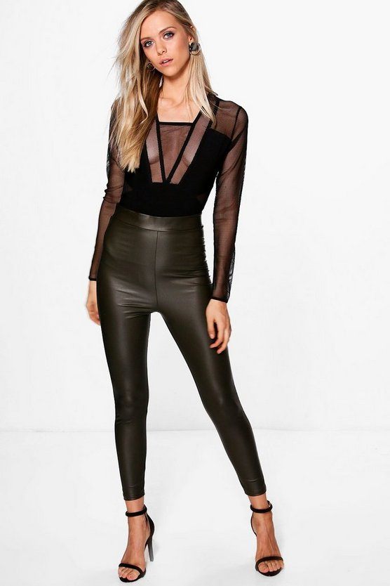 Mia Matte Leather Look Leggings