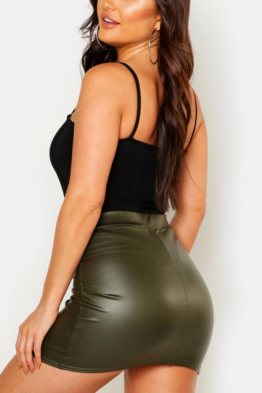 boohoo womens ella matte leather look jersey mini skirt ebay